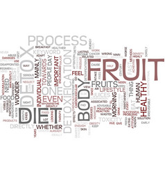 Fruit detox diet text background word cloud vector