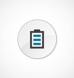 full battery face icon 2 colored vector image