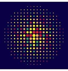halftone effect vector image