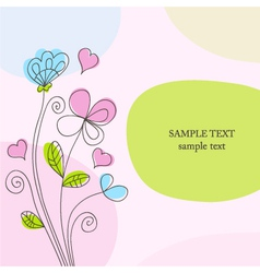 Hand drawn romantic background vector image