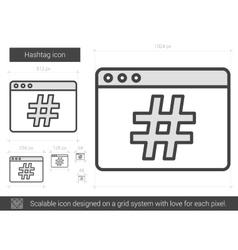 Hashtag line icon vector image vector image