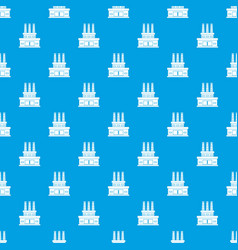 Large oil refinery pattern seamless blue vector