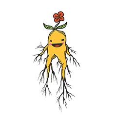 Mandrake roots hand drawn character vector