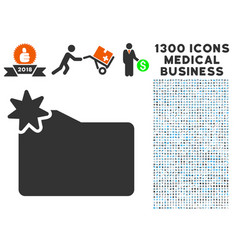 New folder icon with 1300 medical business icons vector