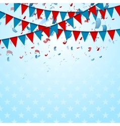 Party flags abstract USA background with confetti vector image vector image