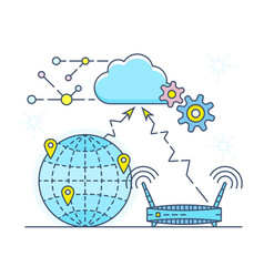 Personal cloud vector