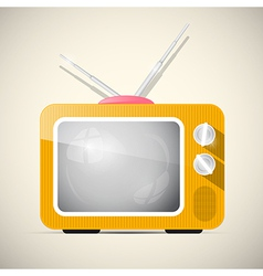 Retro Orange Television TV vector image vector image