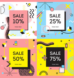 sale concept memphis style vector image