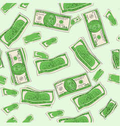 seamless shades of green one hundred dollars of vector image