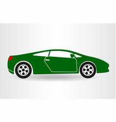 Silhouette of the car car symbol vector