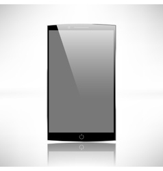 Smartphones mockup black and white vector image