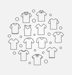 T-shirt round tshirt symbol vector