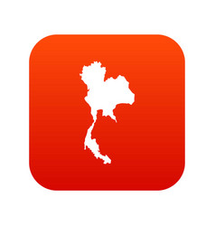 Thailand map icon digital red vector