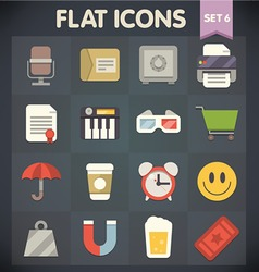 Universal Flat Icons for Applications Set 6 vector image vector image