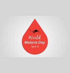 World malaria day art vector