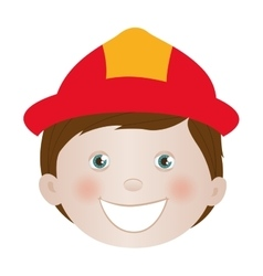 Child dressed as firefighter icon image vector