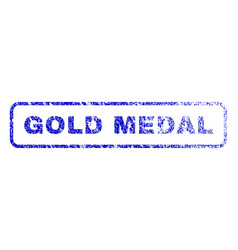 Gold medal rubber stamp vector