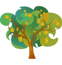 Tree with dollar signs vector