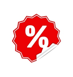 Sticker percent vector