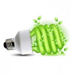 eco friendly CFL bulb vector image