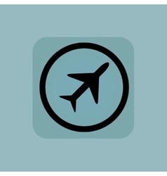 Pale blue plane sign vector
