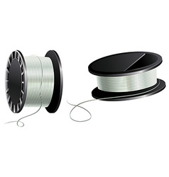 Fishing line or cotton vector