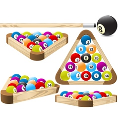 Pool rack vector