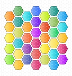 Rounded hexagon abstract background vector