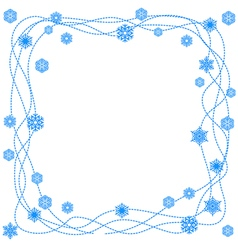 Snow frame isolated vector