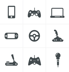 Game icons set of gadget signs vector
