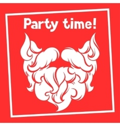 Party time background with santa mustache and vector
