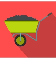Wheelbarrow icon with shadow vector