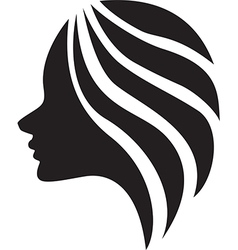 The beautiful girl silhouette vector