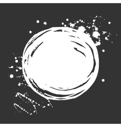 Set of ink white blots and splashes vector