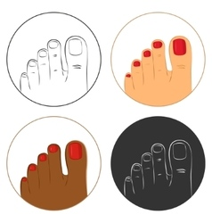 Pedicure and bodycare concept icon set vector