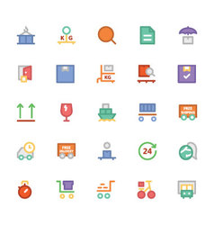 Logistics delivery Colored Icons 4 vector image