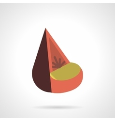Cone soft seat flat color design icon vector