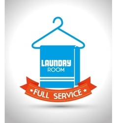 Laundry full service design vector