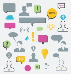 Speech bubbles and communication vector
