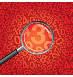 magnifying glass numbers vector image