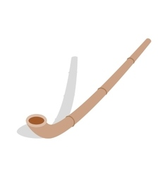 Wooden pipe icon isometric 3d style vector