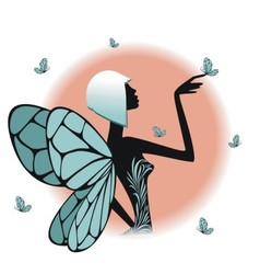 A fairy silhouette vector image