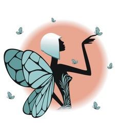 A fairy silhouette vector