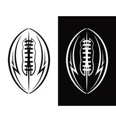 American football ball emblem icon vector