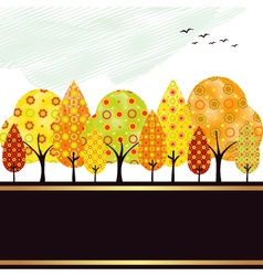 autumn trees vector image vector image