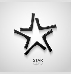 black star logo design vector image vector image