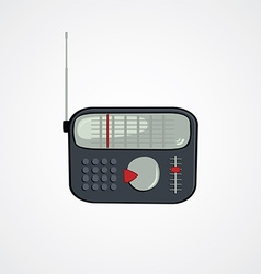 cartoon theme radio vector image