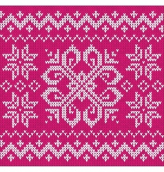 Christmas ornamental embroidery vector image vector image