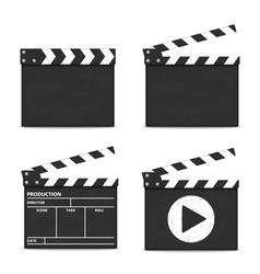 Clapper boards vector