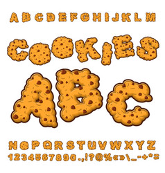 cookies font food lettering edible typography vector image vector image